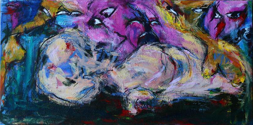 """Beautiful Person""  |  100x50 cm  |  Acryl op linnen"