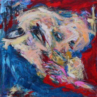 """The nightday""  |  80x80 cm   |   Acryl op linnen"