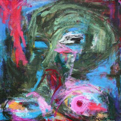 """Welkom""  |  80x80 cm  |  Acryl op linnen"