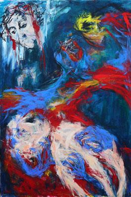 """She's mine""  |  150 x 100 cm  |  Acryl op linnen"