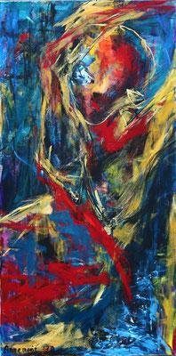 """Life""  |  120x60 cm  |  Acryl op linnen"