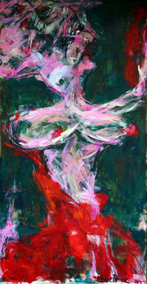 """Two lives""  |  120x65 cm  |  Acryl op linnen"