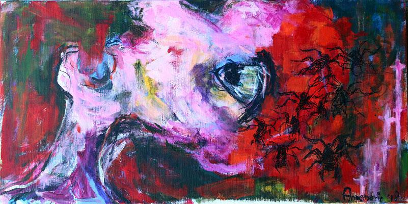 """Fantasies""  |  100x50 cm  |  Acryl op linnen"