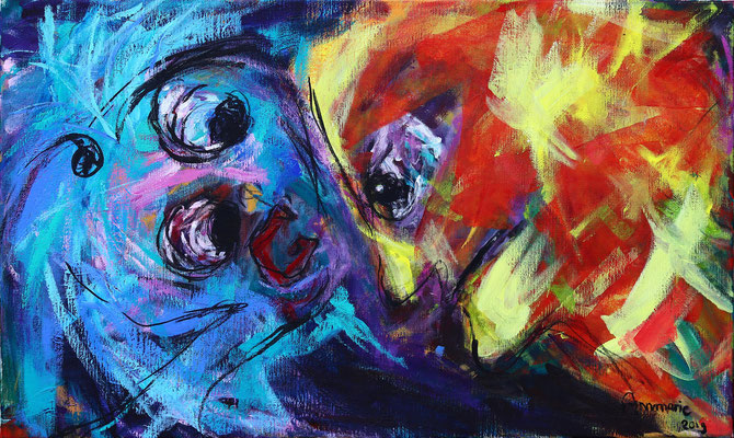 """Warme band""  |  100x60 cm  |  Acryl op linnen"