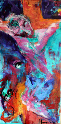 """Besluit / Decision""  |  120x60 cm  |  Acryl op linnen"