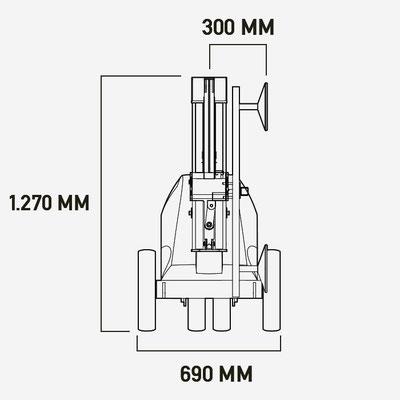 Glasroboter Winlet 350 Abmessungen 2