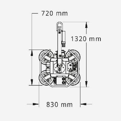 Vakuumsauger MRT4 Abmessungen