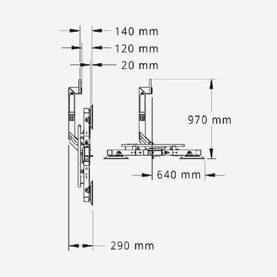 Saugbatterie MRT4 Dimensionen