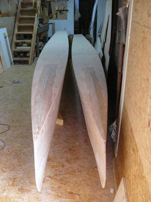les deux flotteurs prêts pour la suite