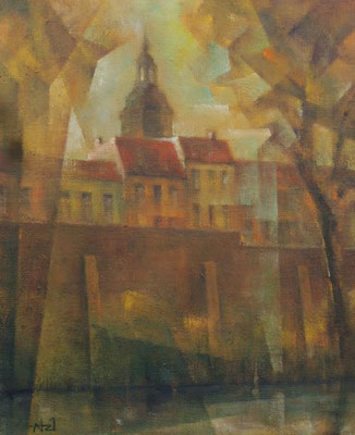 WV 1343: St. Nikolai-Kirche Spandau, 2021, 27x22cm