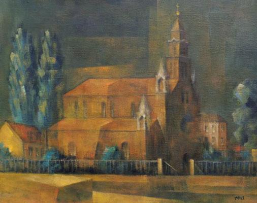 WV1348: St. Marien am Behnitz, Spandau, 2021, 40x50cm