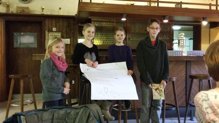 Gruppe 1 stellt ihren Steckbrief vor