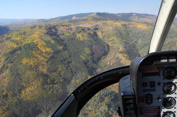 Scenic helicopter tour Colorado