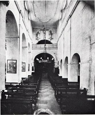 Das Mittelschiff von Westen (Ende 19. Jh.)