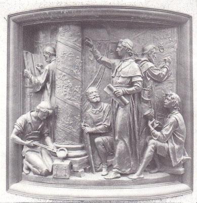 Bernward in seiner Künstlerwerkstatt