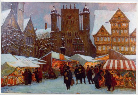 Weihnachtsmarkt in Hildesheim 1928