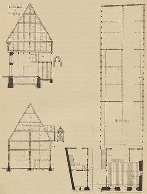 Grundriss und Querschnitte; Tafel 5 nach Seite 25