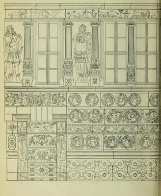 Bild 1: Aufriss der Straßenfront (linke Seite)