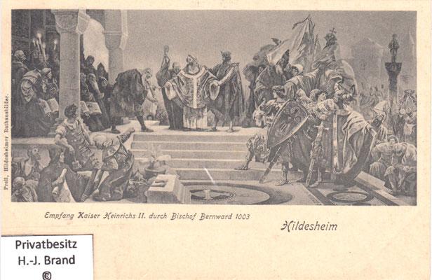 Empfang Kaiser Heinrich I. durch Bischof Bernward 1003
