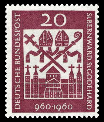 Sonderbriefmarke von 1960 zum 1000. Geburtstag