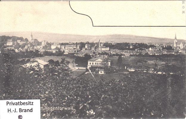 Blick vom Hagentorwall auf den Moritzberg