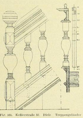Bild 3: Diele, Treppengeländer (Docken)