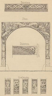 Torsturz, Tor und Kopfbänder; Tafel 2 nach Seite 16