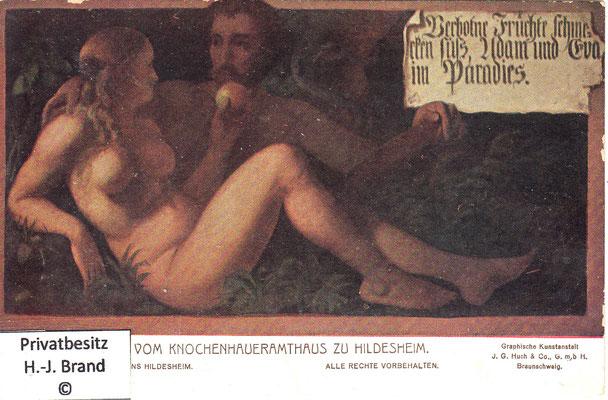 Verbotene Früchte schmecken süß, Adam und Eva im Paradies