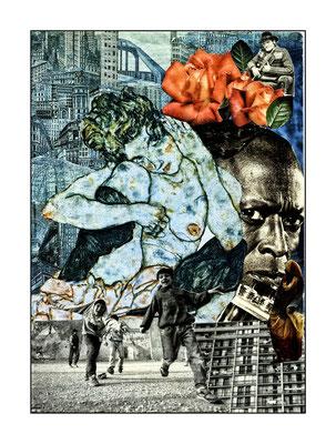 Collages Miles Davis
