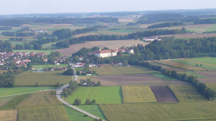 Kloster Zangberg über dem Isental bei Ampfing - Mühldorf