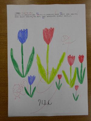 咲いた咲いたチューリップ。2015.4.20、3作目