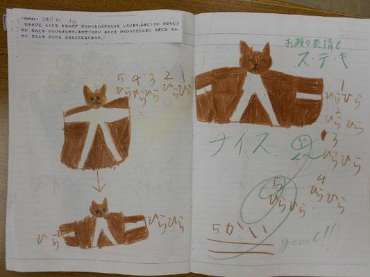 ひらひらももんがダンスをするモモンガの表情がステキ。2015.8.13、36作目