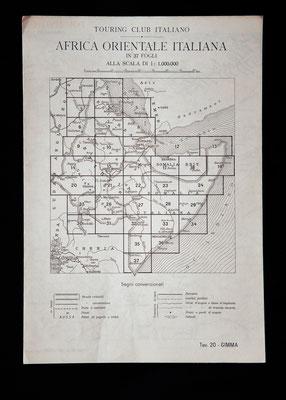 Mappe dell'A.O.I. a cura del Touring Club Italiano (1936)