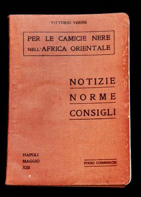Manuale per le camicie nere nell'Africa Orientale, di Vittorio Verne (1935)