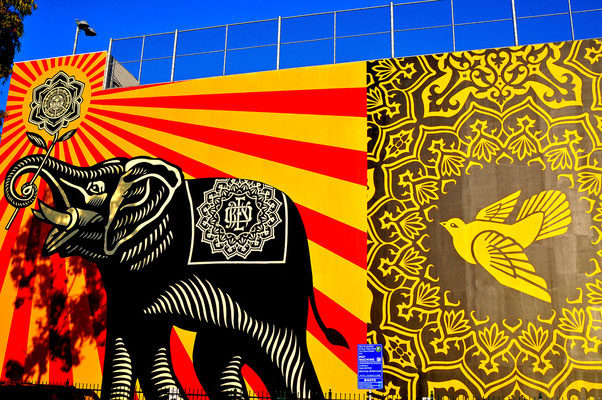 Obey Mural - West Hollywood