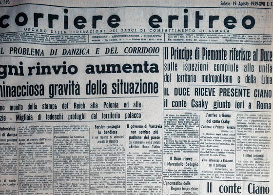 Corriere Eritreo (1939) - Asmara, Eritrea