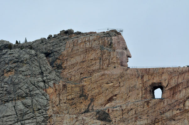 Crazy Horse Memorial (under construction) / Black Hills, South Dakota
