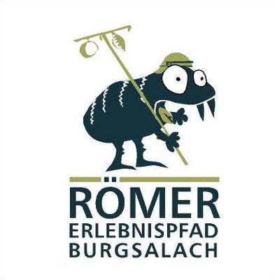 Logo für den Römererlebnispfad Burgsalach