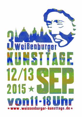 Plakat für die Kunsttage in Weißenburg