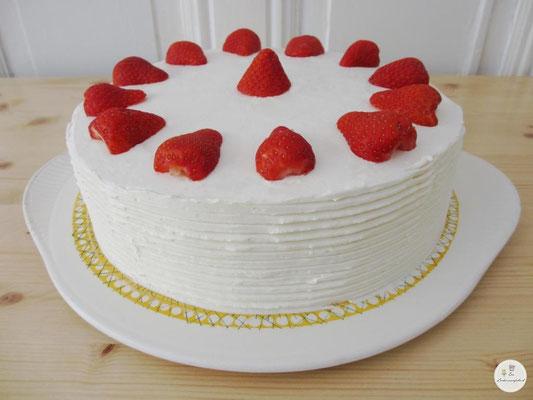 Erdbeercremetorte