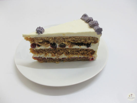 Johannisbeercreme-Tortenstück (GLUTENFREI)