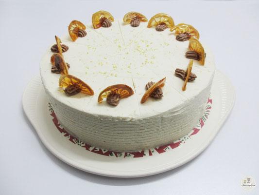 Schoko-Zitronencreme-Torte