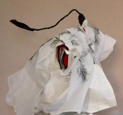 Japonais sous le pin - Encre de Chine sur papier calque - H 40cm x L 36cm x P 45cm