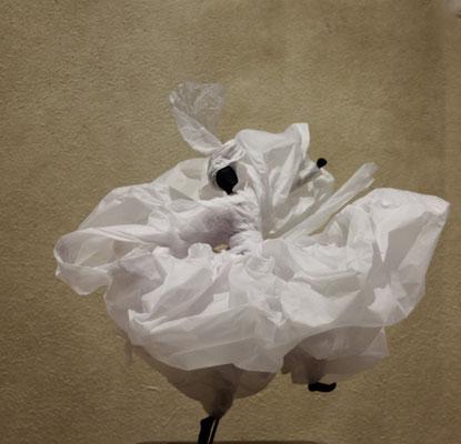 Frou frou Papier calque blanc - H 38cm x L 39cm x 39 cm