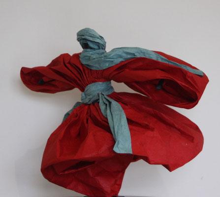 Touareg rouge - H 35cm x L 38cm x P 38cm