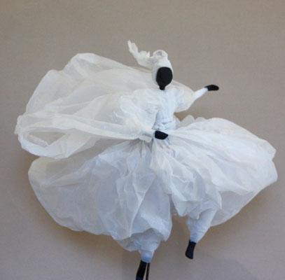 Echappée belle - Papier calque blanc - H 36cm x L 39cm x P 39cm