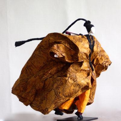 Le lettré amoureux des lotus - H 32cm x L 28cm x P 32cm