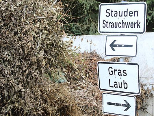 Gartenabfall, Grüngut, Laub, Gras, Grasschnitt, Strauchschnitt