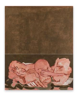 2013, Grosse Liegende, Eitempera auf Leinen 220x180cm