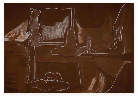 2011, Der Lange Weg, 297x207cm Leim, Eitempera auf Leinen